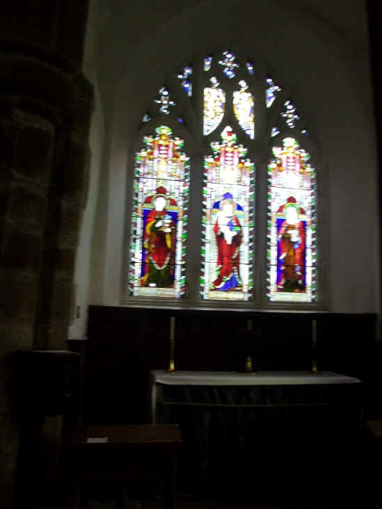 The Lady Chapel in Whalley Parish Church in natural light
